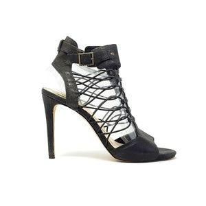 Vince Camuto Black Strappy Ankle Strap Heels